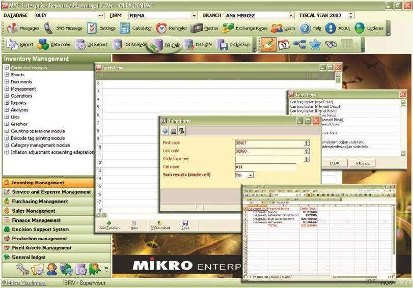 Mikro Data-base reporting