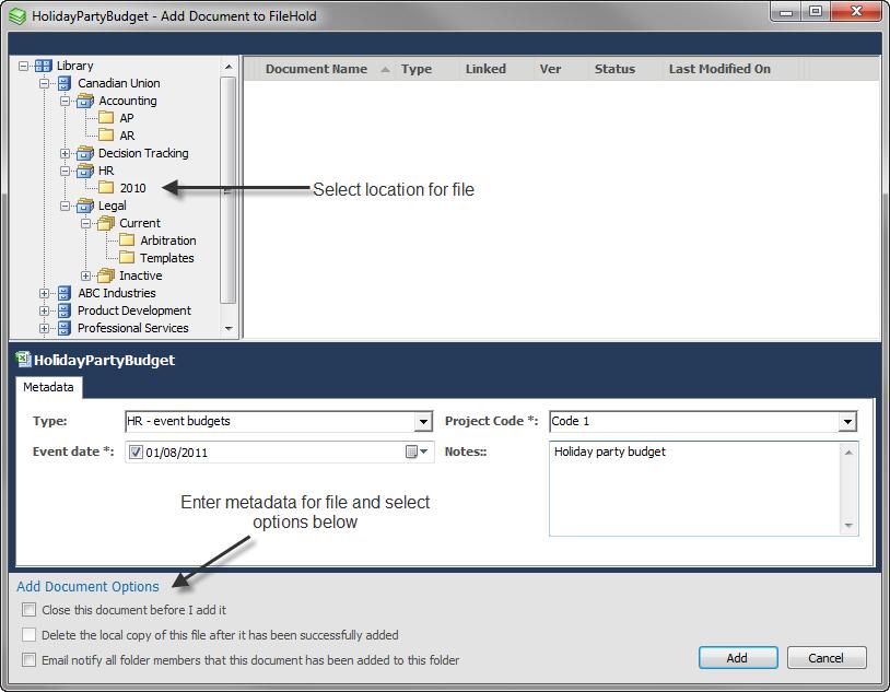 Filehold - Microsoft Office Application Integration
